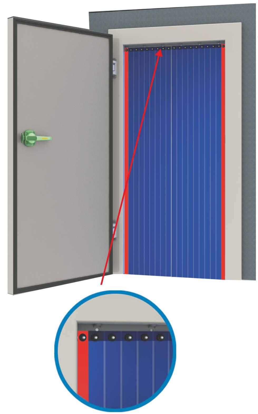 أبواب ستار PVC